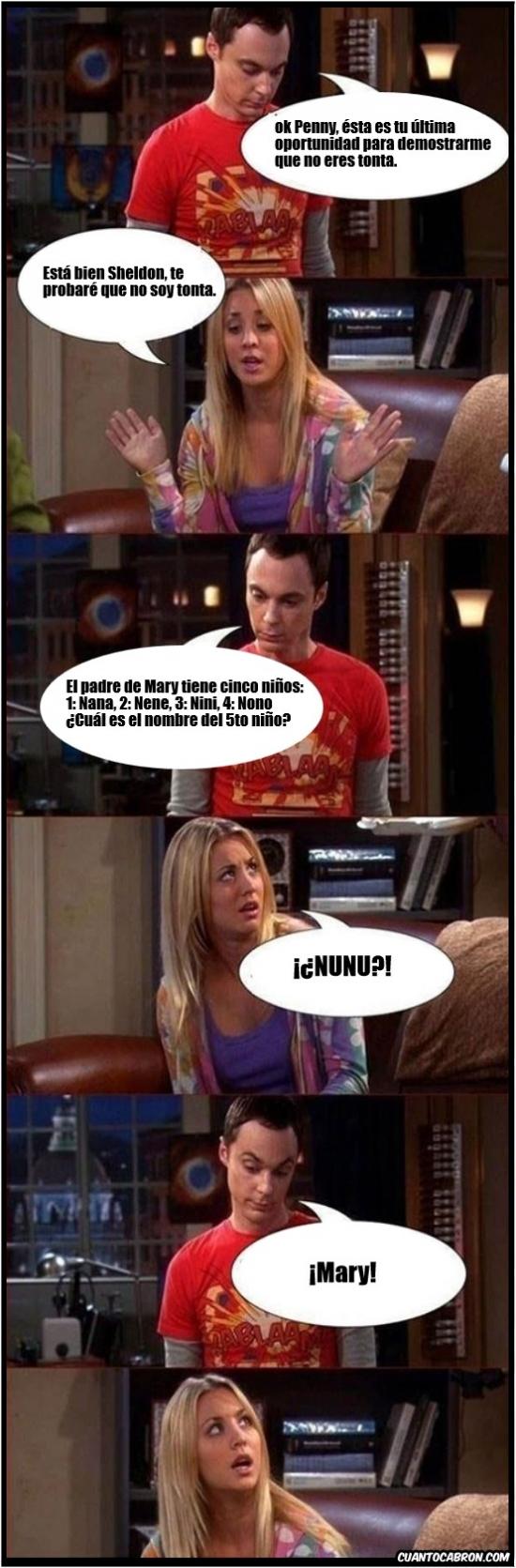 Otros - Sheldon y sus pruebas
