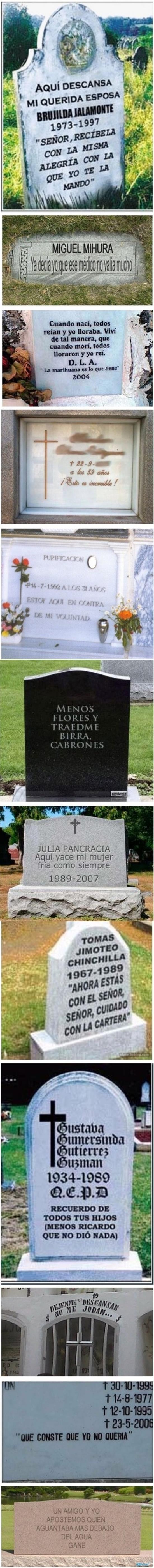 adiós,broma,cementerio,dedicatoria,despedida,epitafio,escritura,humor,lápida,muerte,troll
