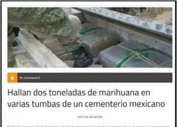 Enlace a Droga en el cementerio mexicano