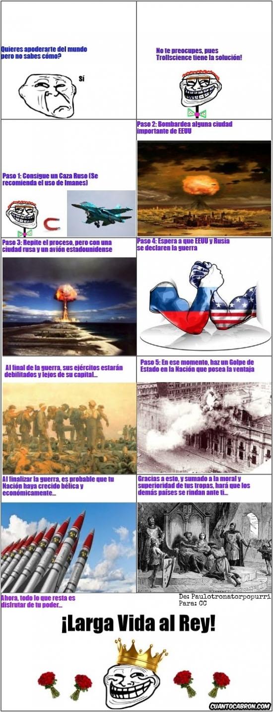 Trollface - Como apoderarse del mundo, por Trollscience