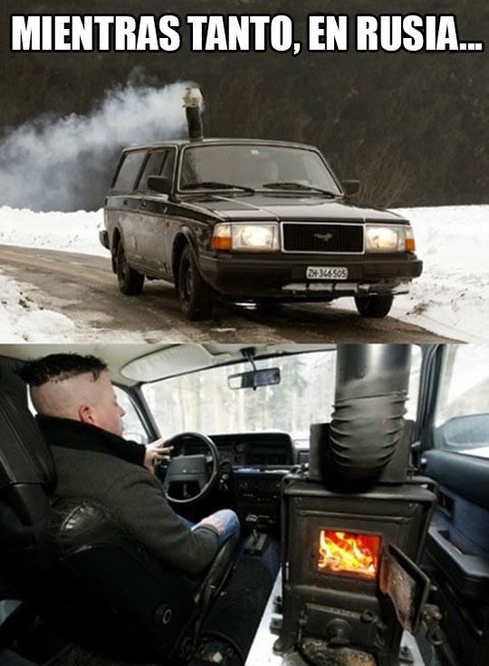 Meme_otros - En Rusia saben combatir el frío