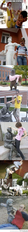 Meme_otros - Trolleando algunas estatuas