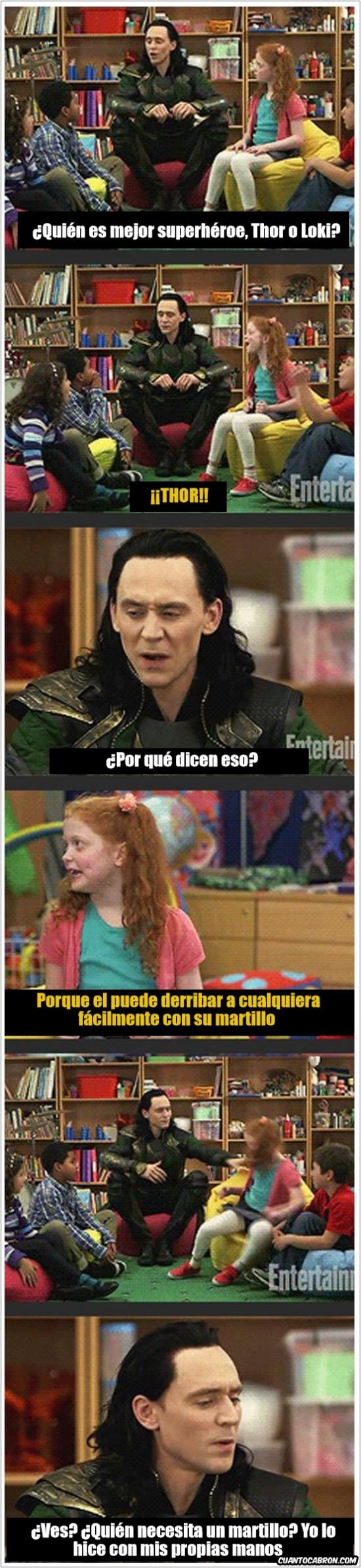 Meme_otros - Loki no soporta que hay alguien mejor que él