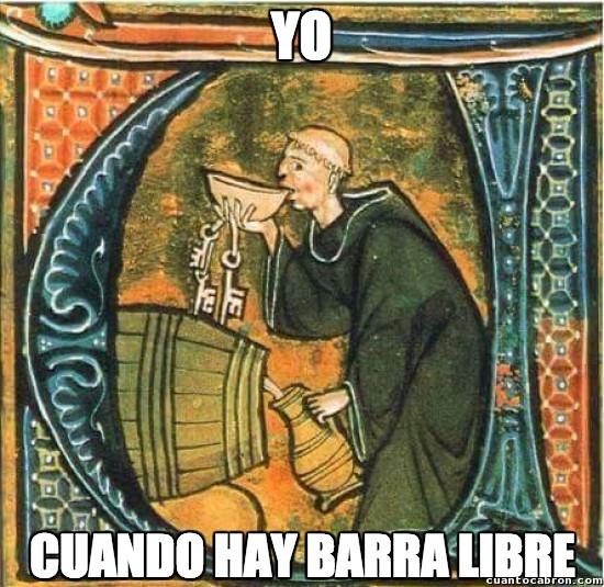 Meme_otros - Cuando hay barra libre: Versión Edad Media