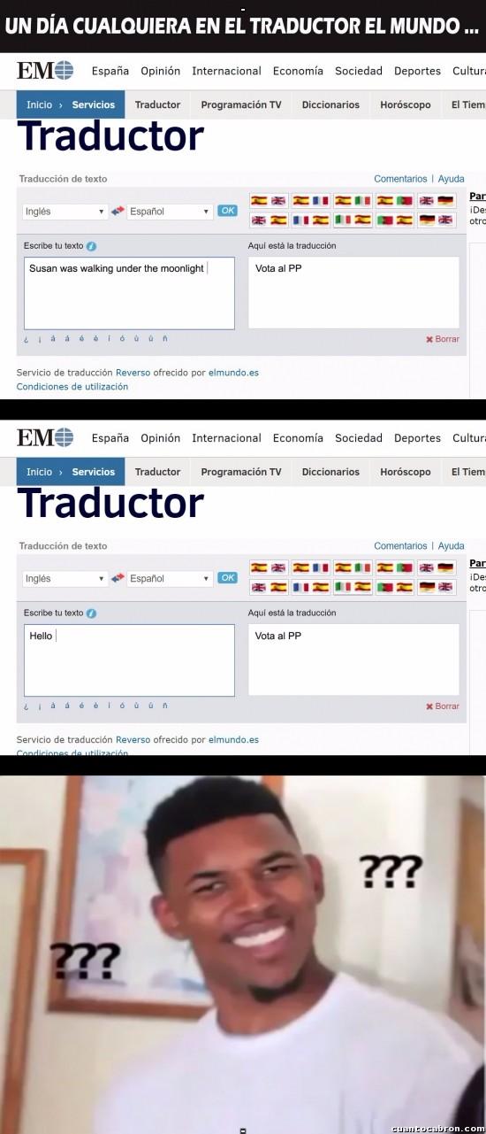Otros - El ¿fail? del traductor de El Mundo