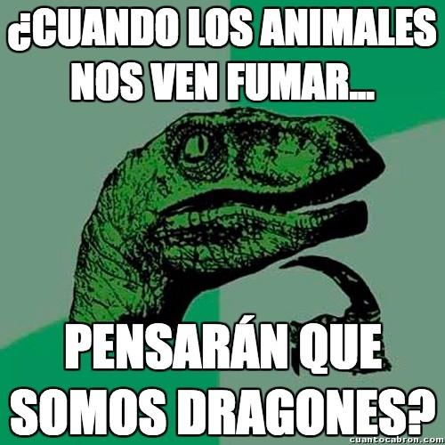 Philosoraptor - Dragones fumadores