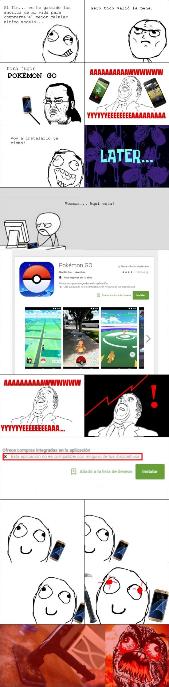 Ffffuuuuuuuuuu - Reaccionando a la incompatibilidad del Pokémon GO
