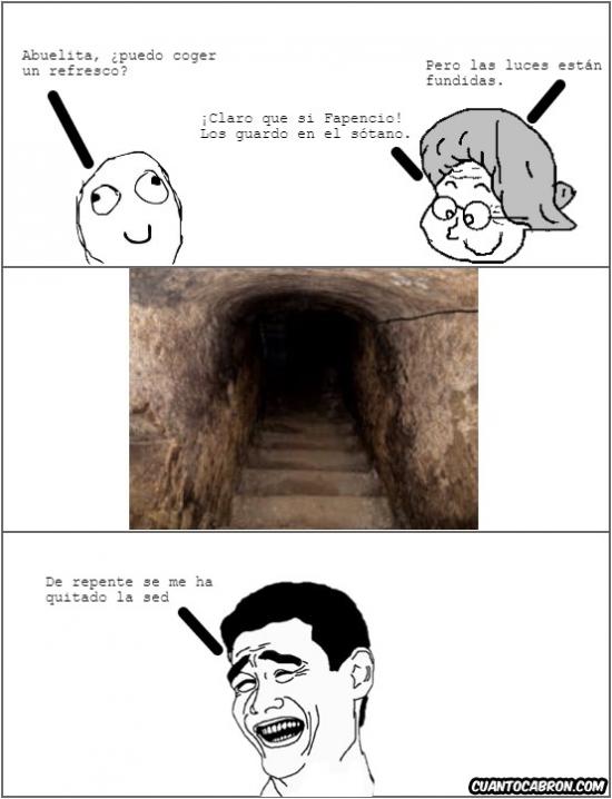 Yao - ¡Maldito sótano sin luz!