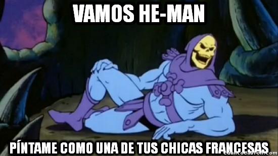 Meme_otros - Skeletor también se apunta a la moda del posado