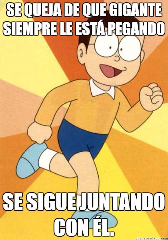 Meme_otros - Nobita el masoquista