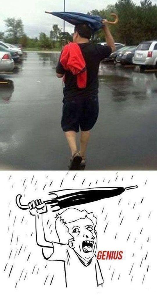 Genius - Ojalá existiera algo para no mojarme con la lluvia