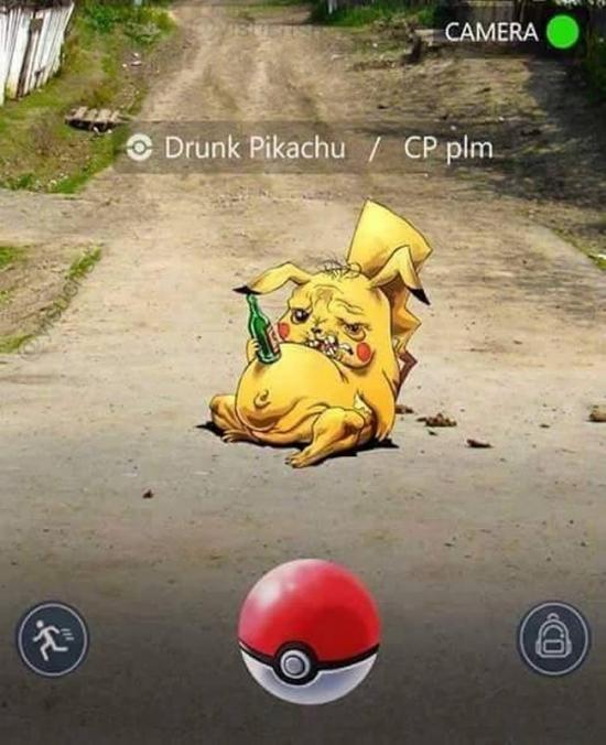 Meme_otros - Sabes que es un barrio muy chungo cuando te encuentras un Pikachu así