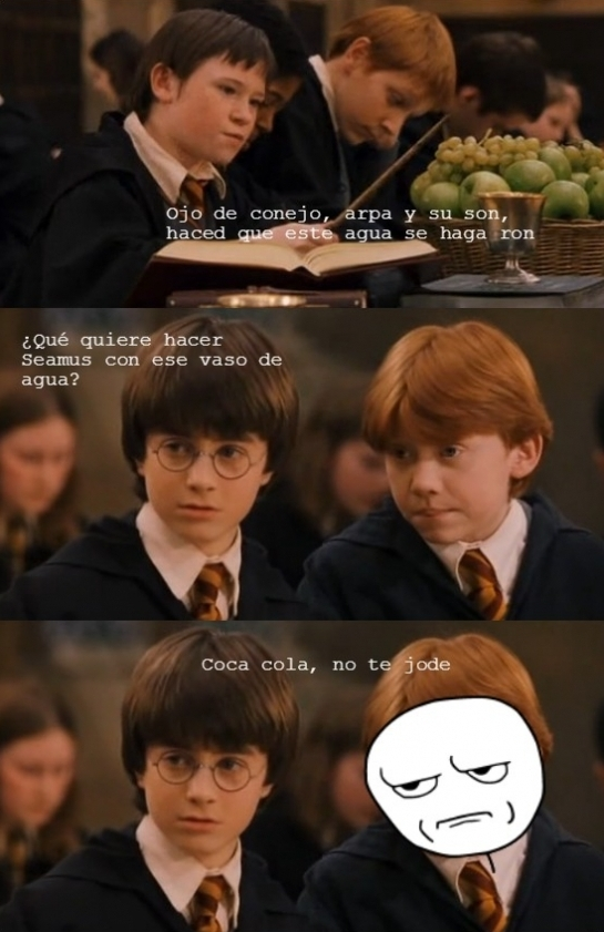 cortito,harry potter,magia,ron