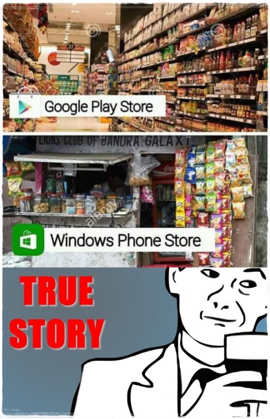 True_story - La verdad sea dicha con las tiendas de apps