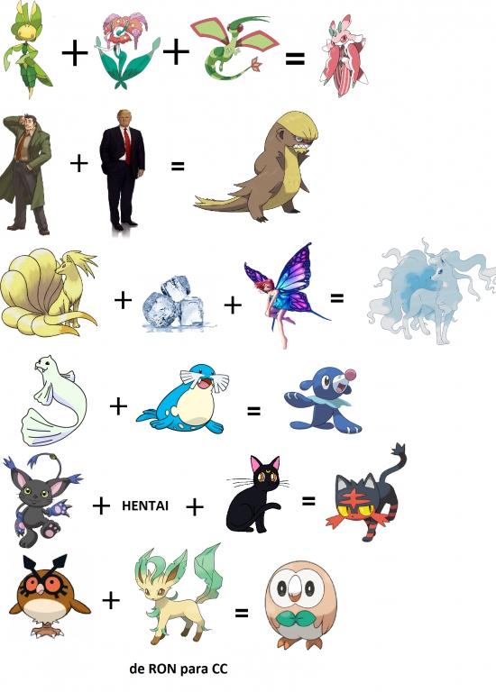 Meme_otros - Las fusiones de Pokémon Sol y Luna