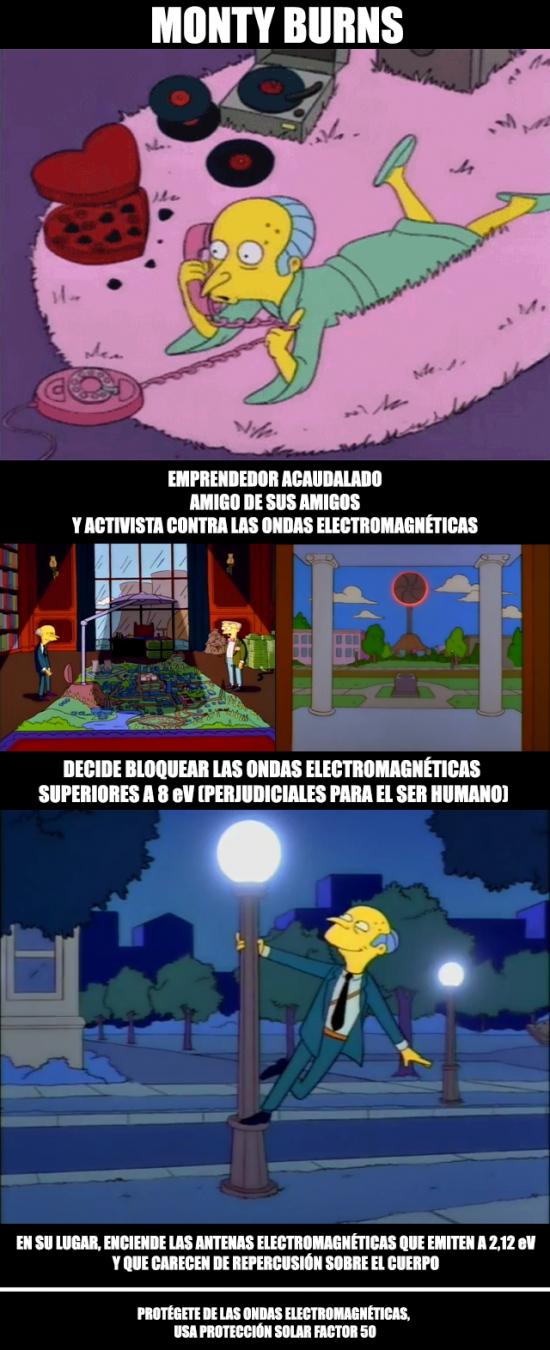 Meme_otros - Burns contra las ondas electromagnéticas