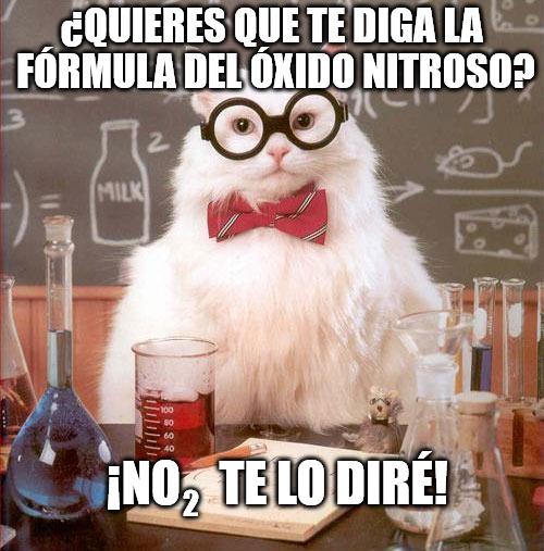 Gato_quimico - La formula del óxido nitroso