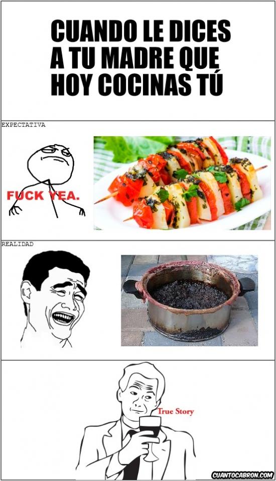 True_story - Expectativa vs Realidad en la cocina...