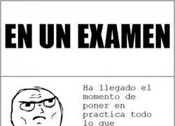 Enlace a Las cosas que pasan durante un examen
