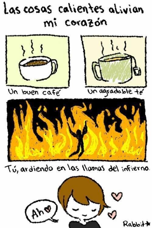 café,calientes,infierno,té