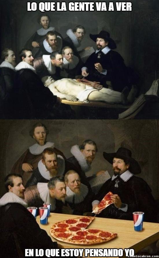 No es bueno ir al museo con hambre