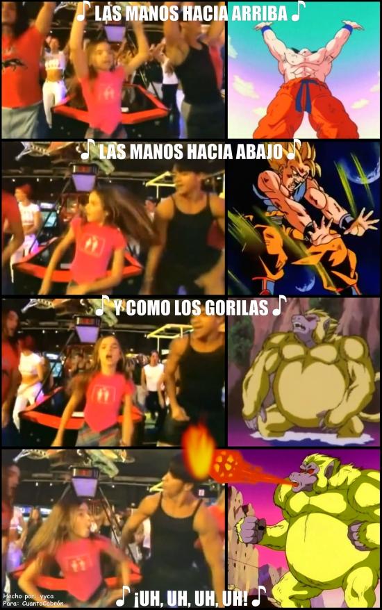 Otros - Goku y el Baile del Gorila
