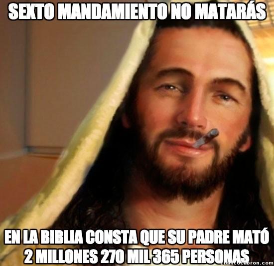 Biblia,dios,dios mata,jesus,mandamiento,matar