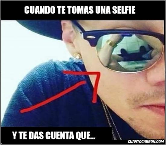 Meme_otros - Situaciones que resultan mala idea tomarte selfies