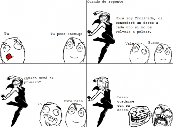 Trollface - Deseo Troll máximo