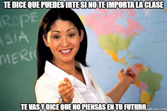 Profesora_cabrona - No hay quien entienda a los profesores...