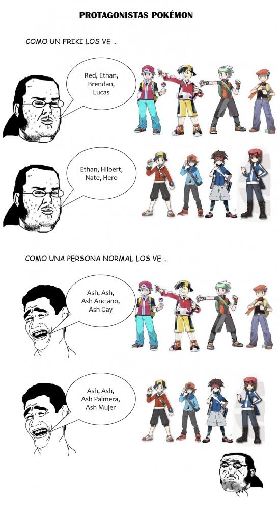 Friki - Los verdaderos nombres de los protagonistas de Pokémon