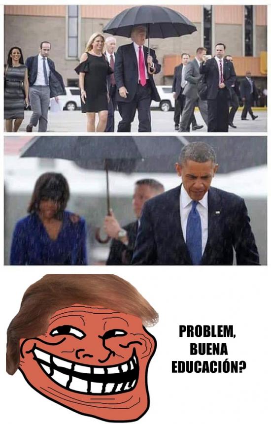 Trollface - La diferencia entre Trump y Obama