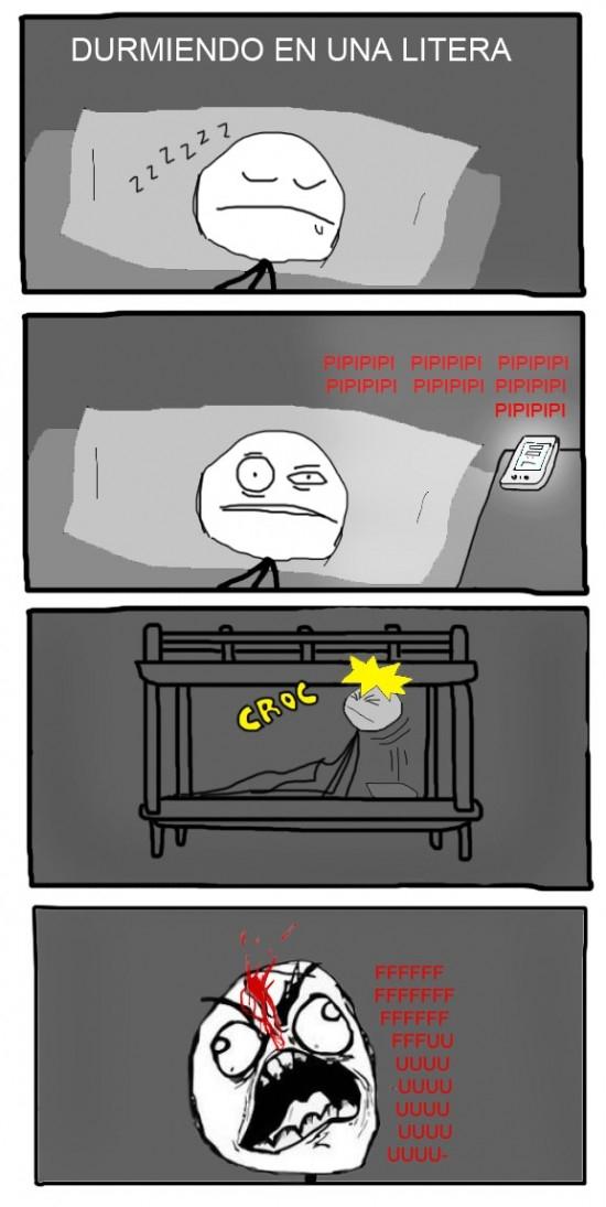 Ffffuuuuuuuuuu - Cuando te despiertas en una litera...