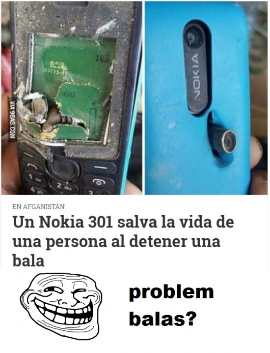 Otros - Los chalecos antibalas deberían de ser de Nokias y no de kevlar