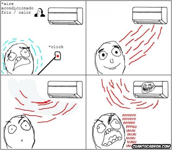 Ffffuuuuuuuuuu - El principal problema cuando usas el aire acondicionado en modo calor
