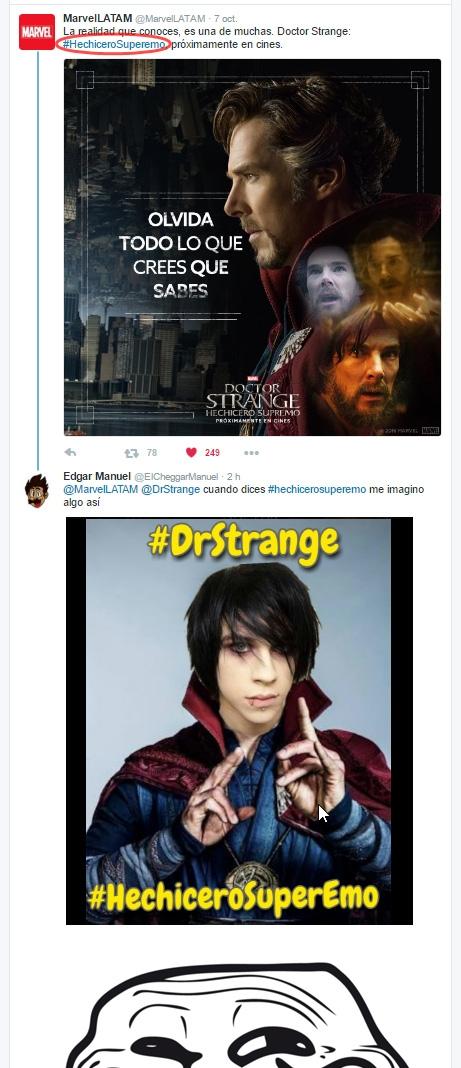 Meme_trollface - Trolleando a Marvel LAT por error en Hashtag de Dr. Strange