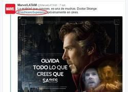 Enlace a Trolleando a Marvel LAT por error en Hashtag de Dr. Strange