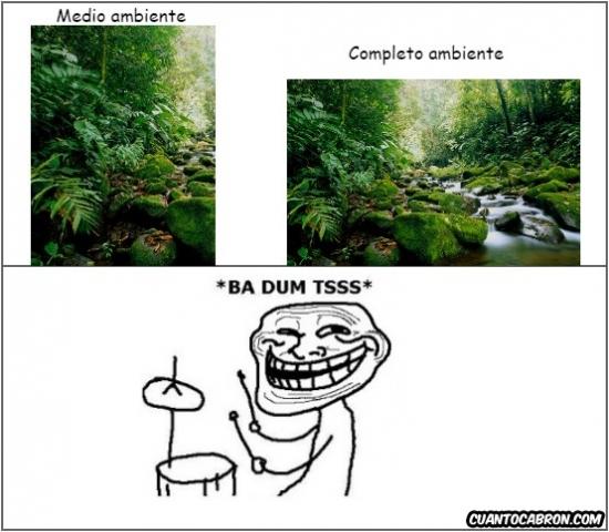 Trollface - Medio ambiente: descripción gráfica