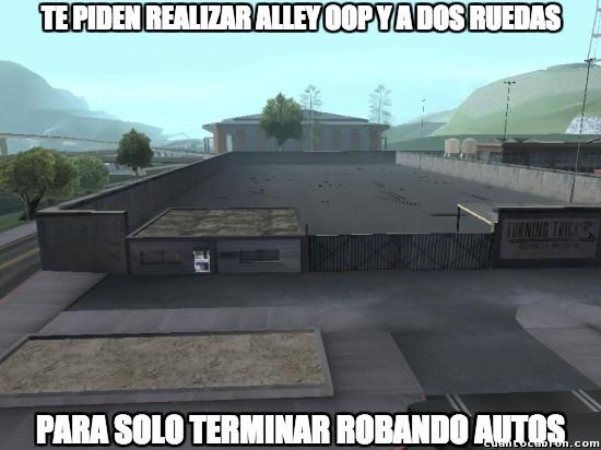 Meme_otros - GTA San Andreas y su lógica confusa