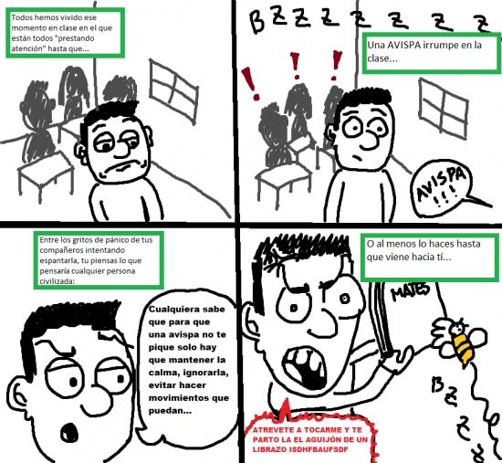 Otros - Ese momento en clase y una avispa