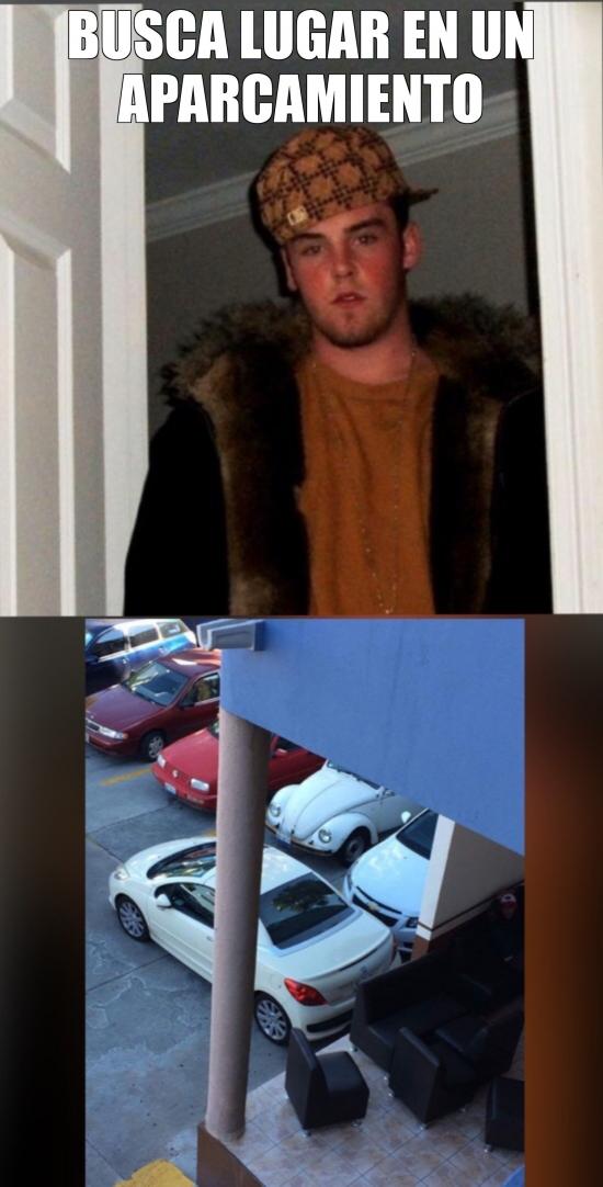 Meme_otros - Espero no os encontréis con este tipo de personas en un aparcamiento