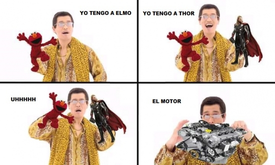 Elmo,motor,Pineapple pen,Thor