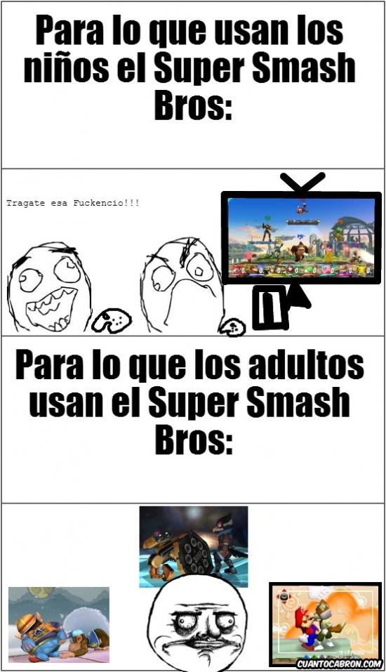 Me_gusta - Todos hacemos eso con Super Smas Bros