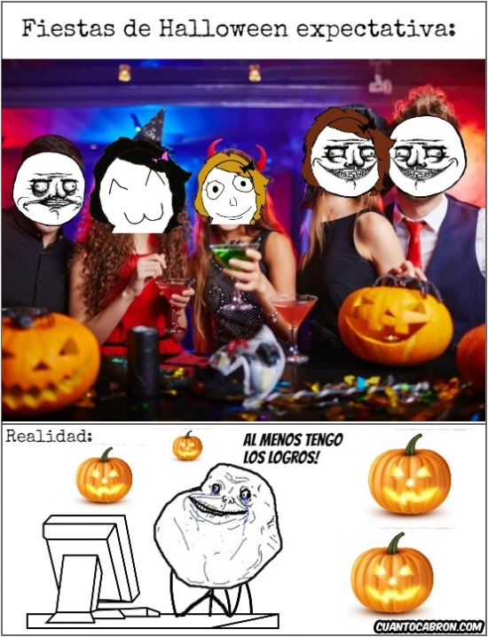 Forever_alone - La realidad de las fiestas de Halloween