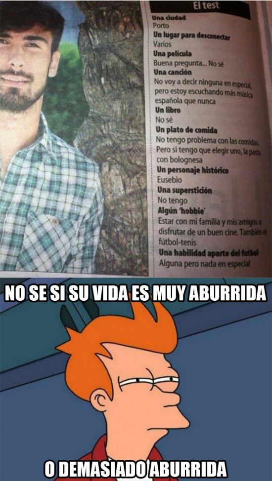 Meme_fry - La vida de André Gomes es un drama