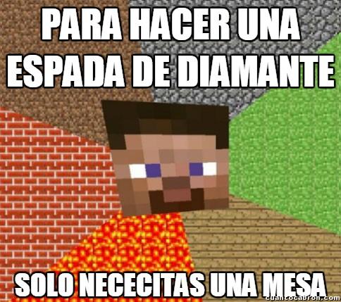 Minecraft - Así de fácil se trabaja el diamante