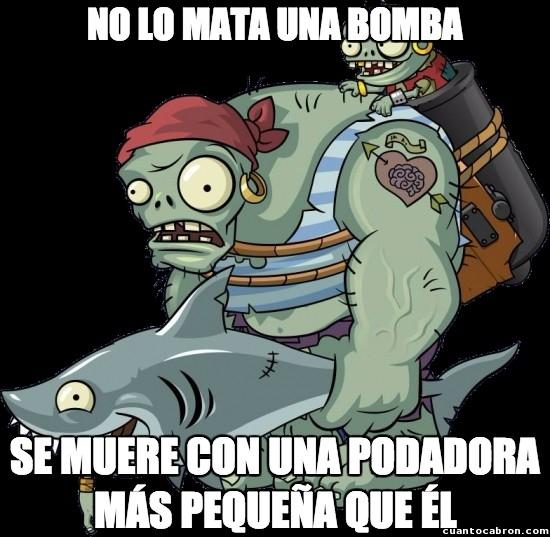 Meme_otros - La lógica de Plants Vs Zombies