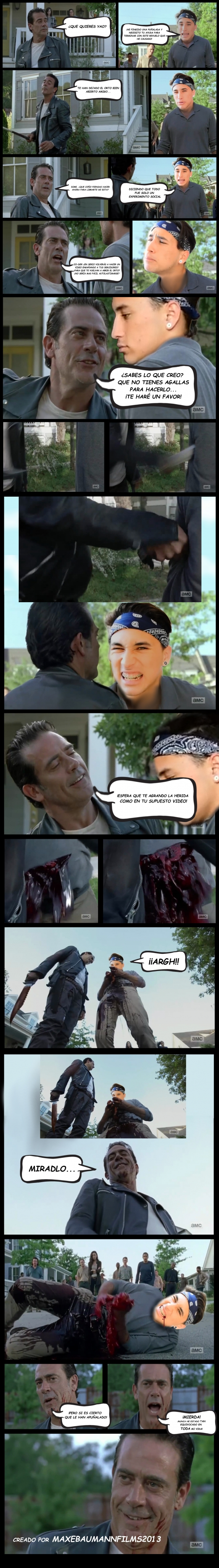 Lol - El encuentro entre Yao Cabrera y Negan (The Walking Dead)