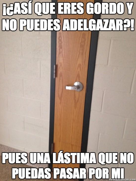 Meme_otros - Puertas que tienen dimensiones un tanto discriminadoras
