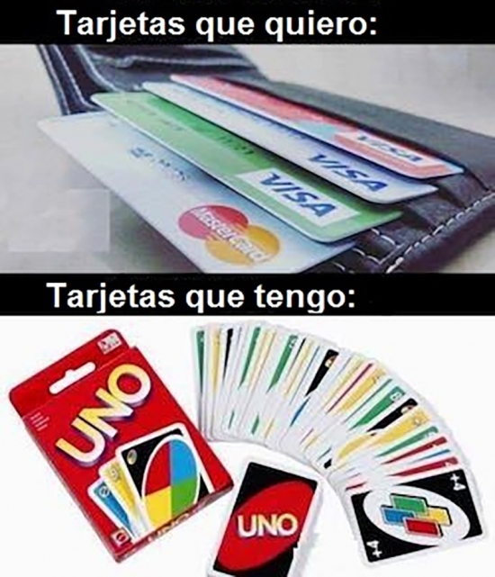 Meme_otros - Dos tipos de tarjetas que dan poder